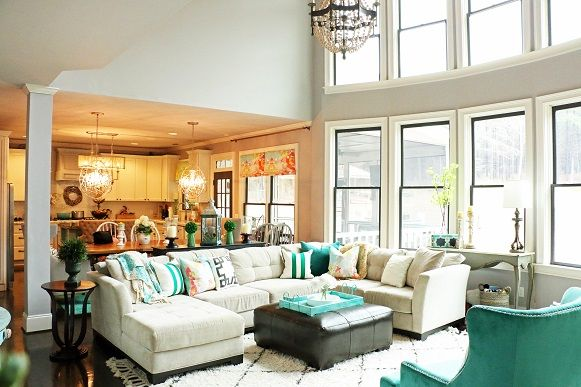 Addison's Wonderland Living Room Renovation Den Design Chic Prepossessing Den Living Room Decorating Inspiration