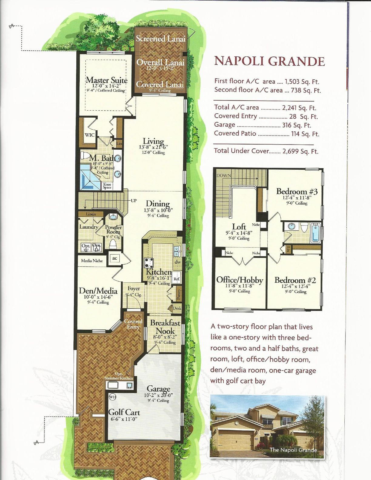 the courtyards at montelena napoli grande floor plan in solivita