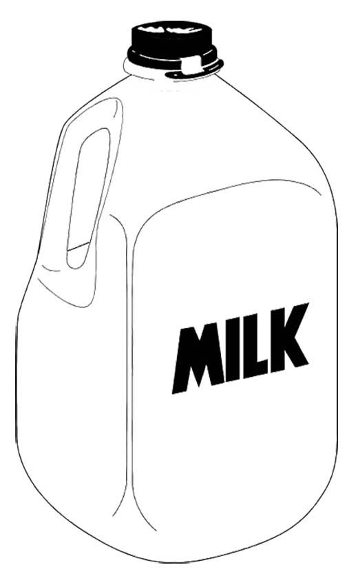 A Gallon Milk Coloring Page Milk Color Coloring Pages For Kids