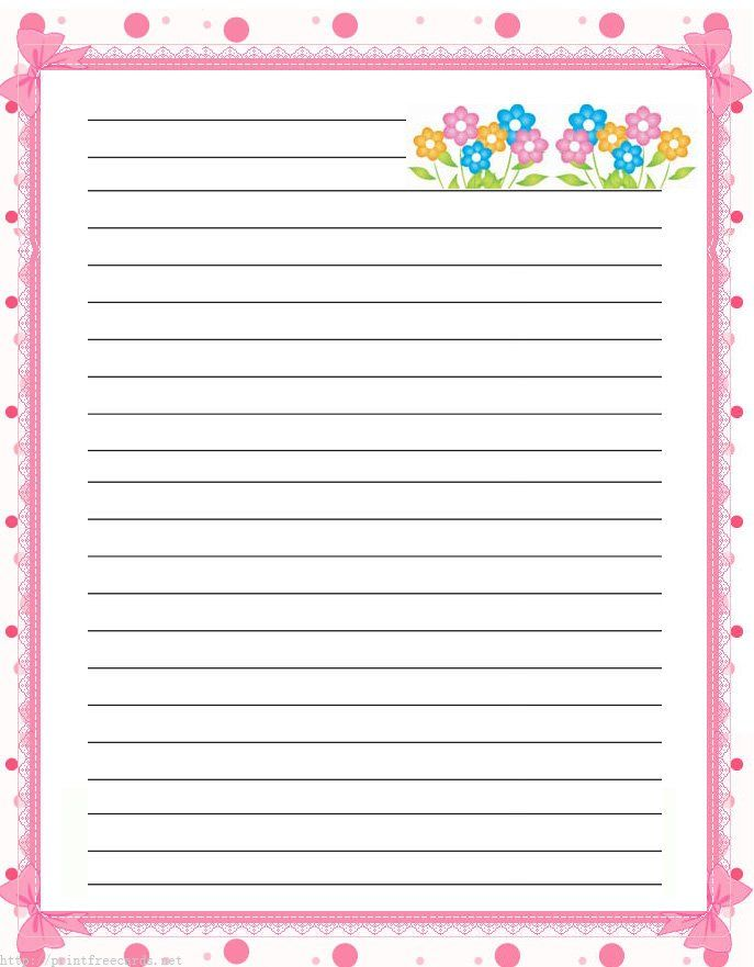 graphic about Printable Stationary for Kids called Free of charge included, handwriting paper with border Printables