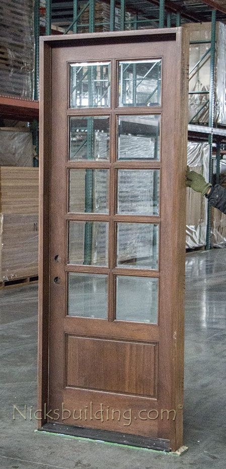 10 Lite Exterior Door Cl 1707 Stained Doors Exterior Doors With Glass Exterior Stain Colors