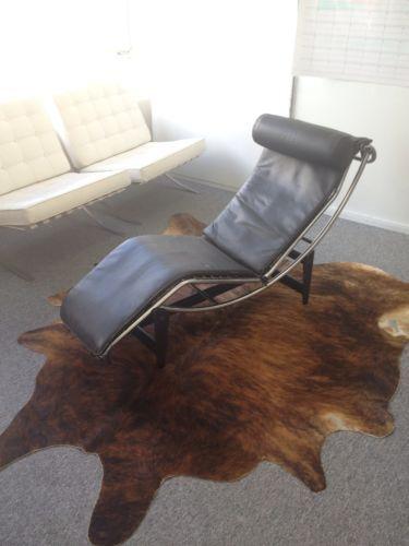 Unique Vintage Designer Chaise Long / Leather Reclining Chair St Leonards