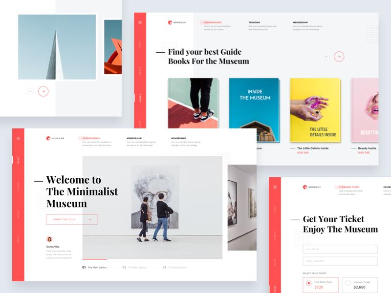 Exploration Museum Website Some Screens Digital Design Trends Simple Web Design Web Layout Design