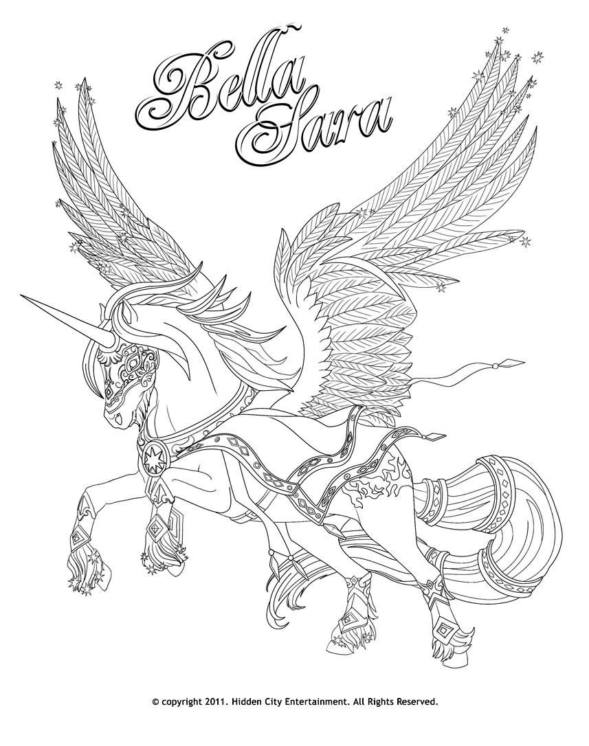 bella sara fan galerie photos coloriages bella sara horses