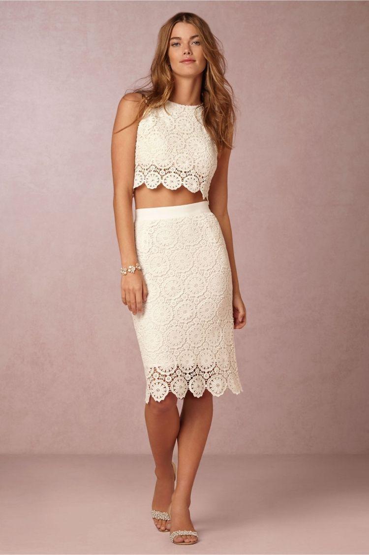 Elegantes, zweiteiliges Brautkleid mit Spitzendetails | Hochzeit ...