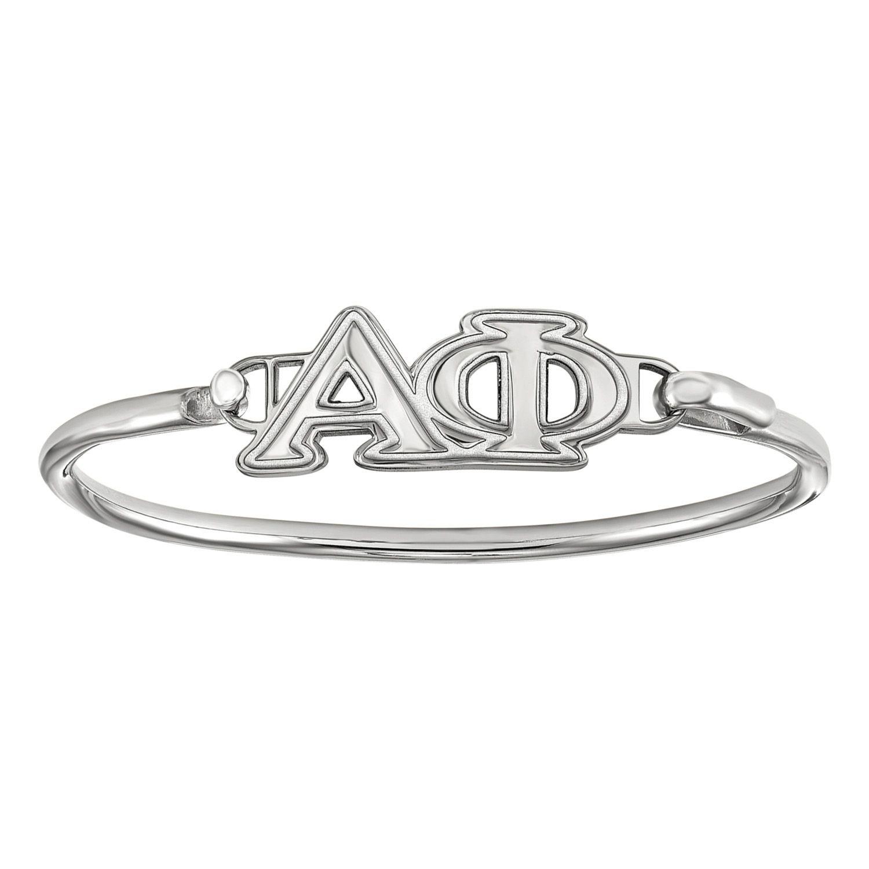 Alpha phi sorority 7 bangle bracelet in sterling silver