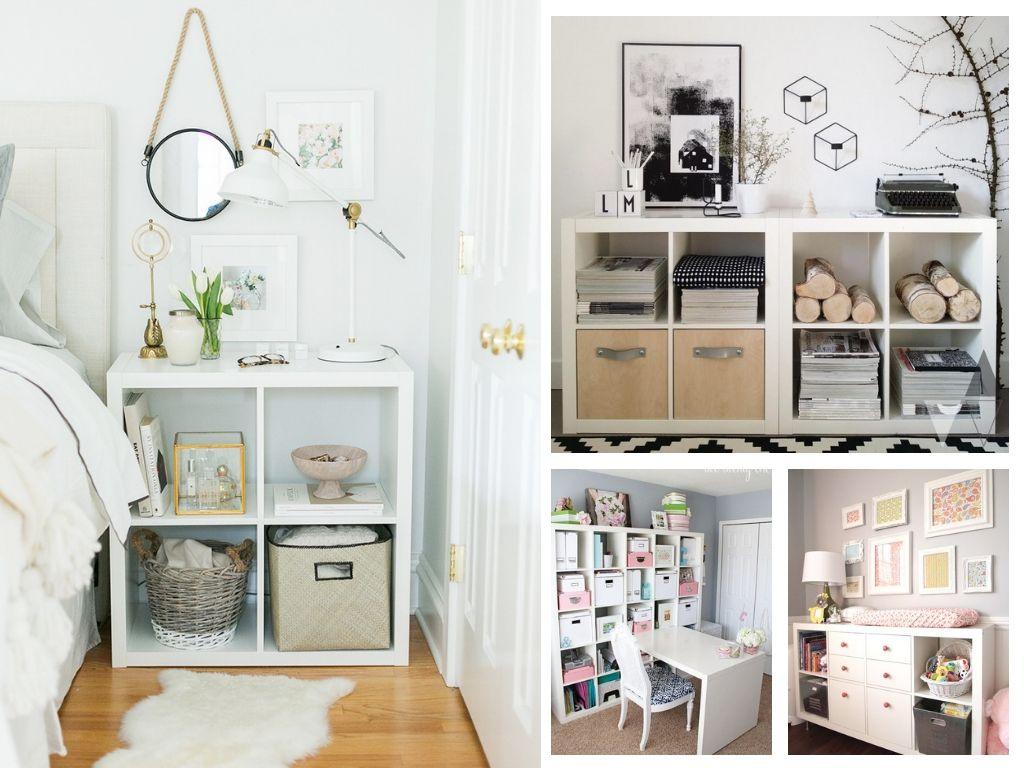 9 Ikea Kallax Ideas & Hacks For Every Room  Kallax ikea, Ikea