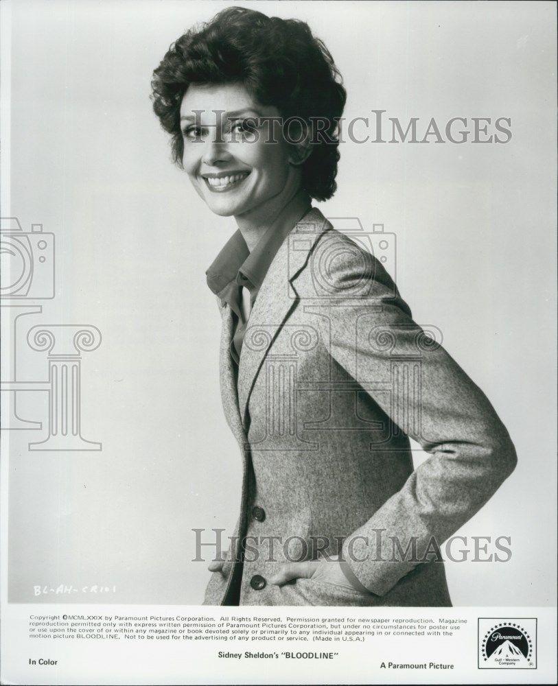 """1979 Press Photo """"Bloodline"""" starring Audrey Hepburn"""