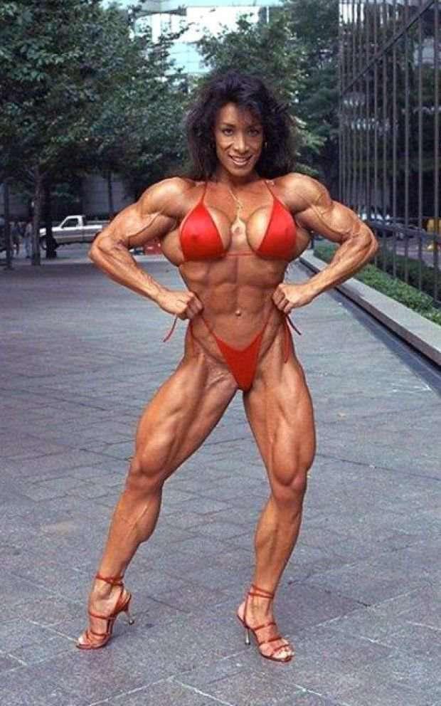 Denise masino red bikini