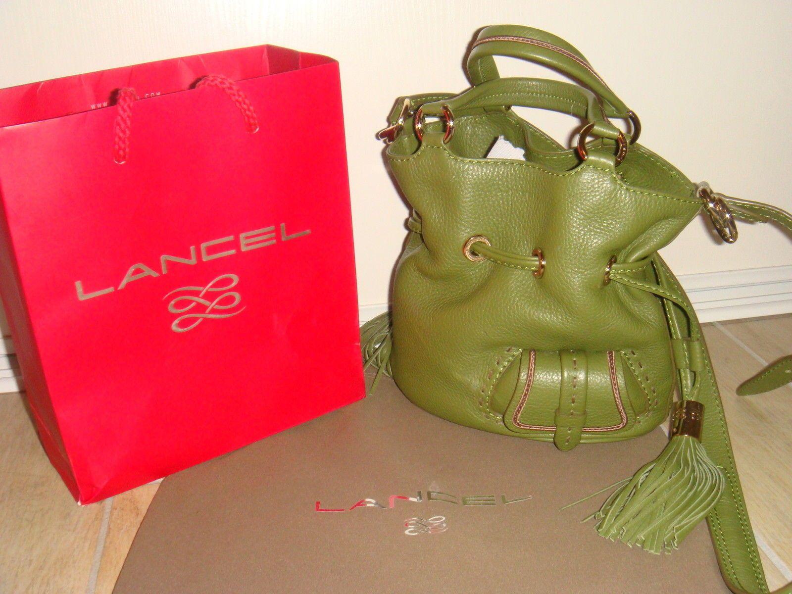 SAC Lancel 1ER Flirt Taille S EN Cuir Vert Petit Modele   eBay   sacs 381afa8d49b