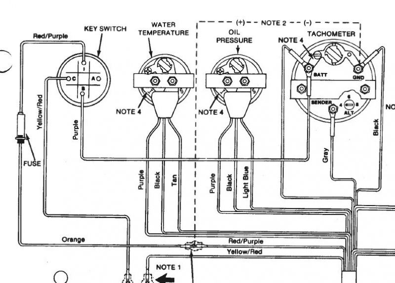 Wiring Diagram For Boat Tachometer  With Images
