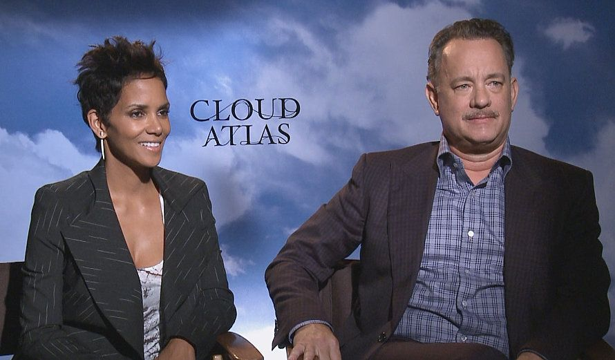 """Tom Hanks and Halle Berry 'Cloud Atlas' - Tom Hanks and Halle Berry lead the ensemble cast of the sci-fi thriller """"Cloud Atlas"""", all about how actions in the present can affect what happens in the future. And our very own Roz Weston made his own """"ripple"""" breaking Tom's exciting Broadway news to co-star Halle! #ETCanada http://www.globaltv.com/etcanada/video/top+stories/tom+hanks+and+halle+berry+cloud+atlas/video.html?v=2291713323=2=dd#etcanada/video"""