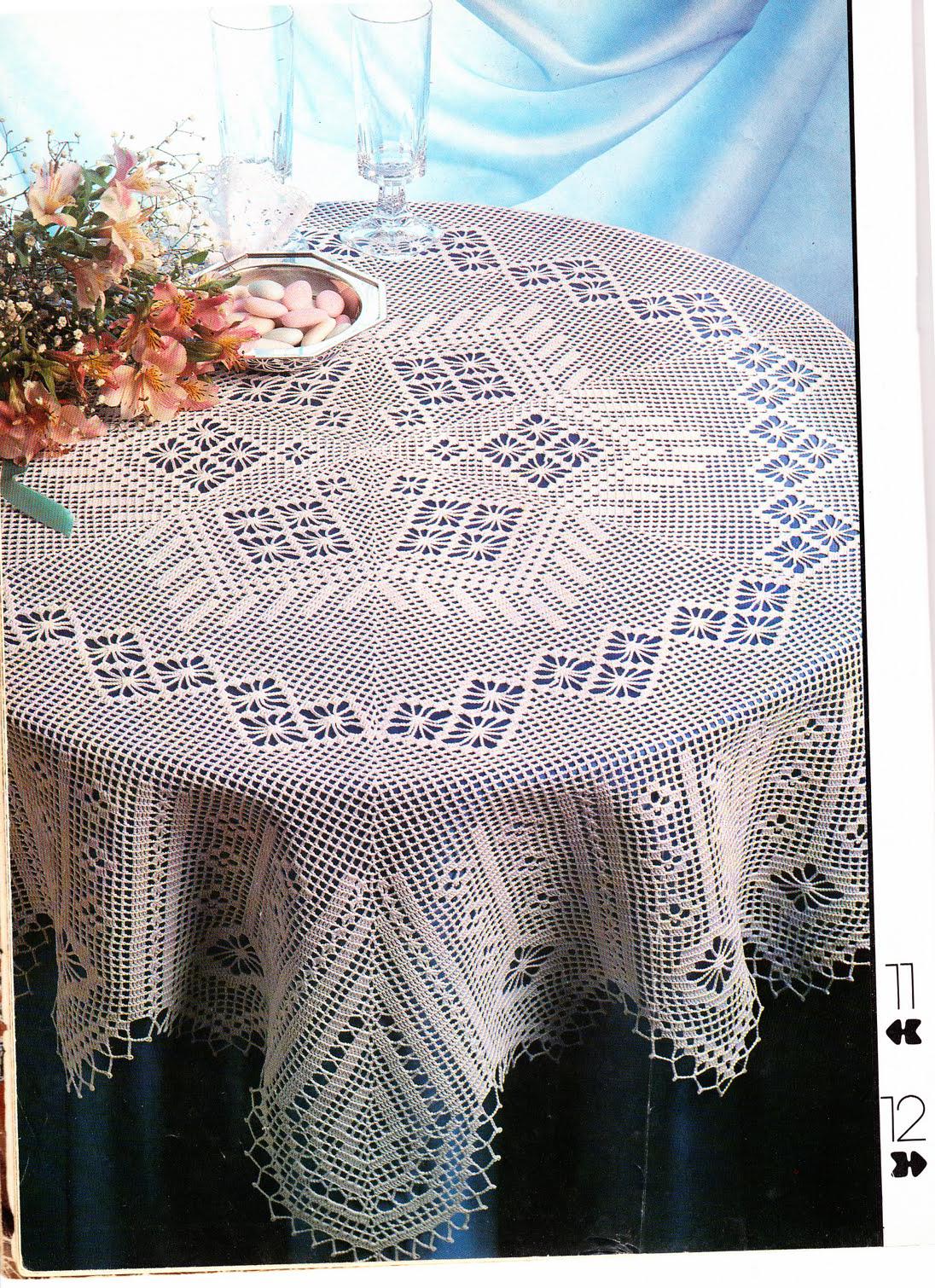 Ефектна скатертина гачок | carpetas.cortinas | Pinterest | Mantel ...