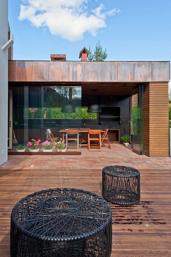 Quincho moderno churrasqueras pinterest patios for Zocalos para patios modernos