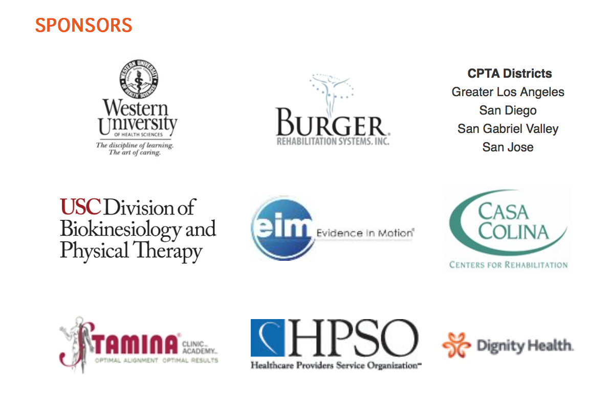 Cpta Sponsors Page Healthcare Provider Rehabilitation Physical Therapy