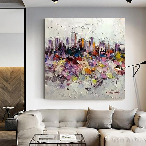 New York Cityscape Abstract acrylic painting on canvas extra Large ...