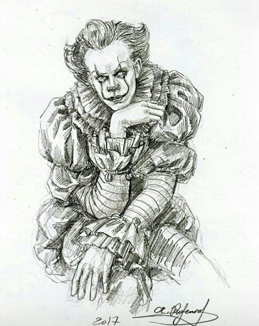 Pin By Karlee Duffey On Realistic Male Drawing In 2019 Pennywise