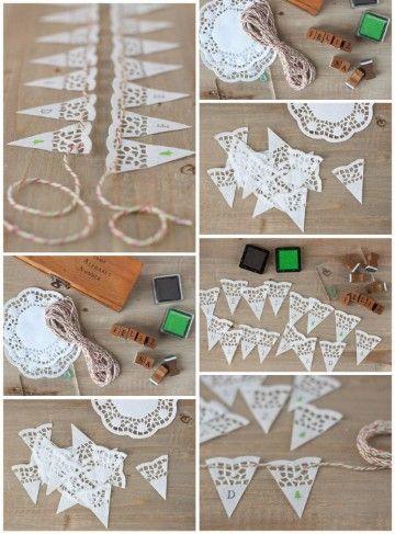 Guirnaldas de papel paso a paso para cumpleaños de crepe