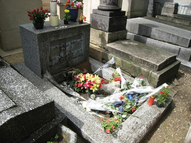 Doors frontman Jim Morrison grave at Pere Lachaise Cemetery Paris & In Pictures: 4 Most Beautiful Cemeteries in Paris | Jim morrison ...
