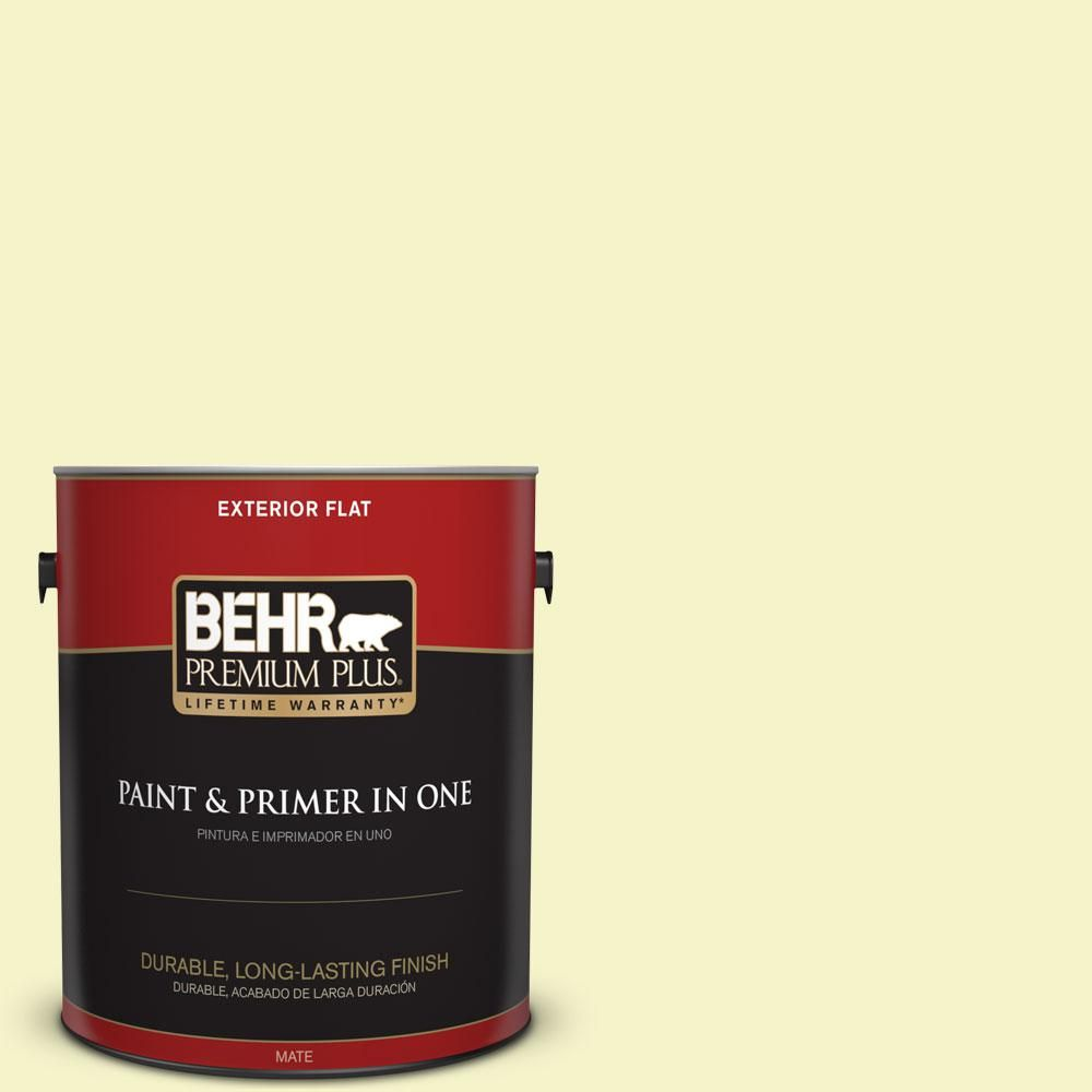 Behr premium plus gal a candlelight yellow flat exterior