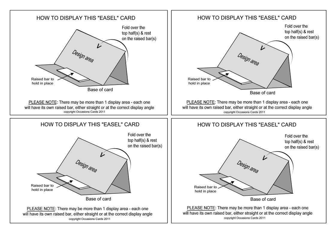 Easel Card How To Display Insert Handy To Include When You Give Someone An Easel Card Since Most People Aren T Sure How The Easel Cards Cards Fun Fold Cards