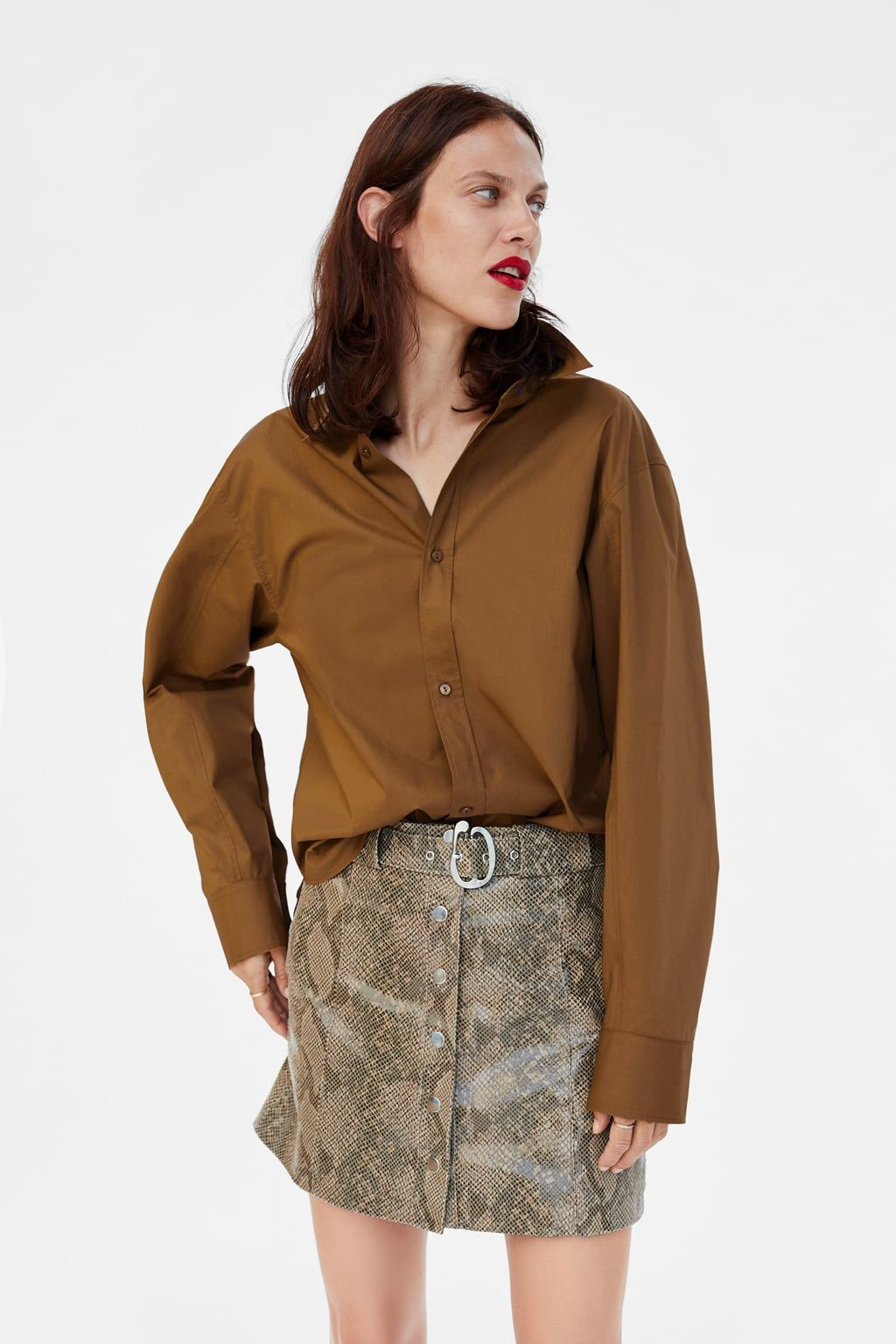 Purchase > zara leather snake print skirt, Up to 73% OFF