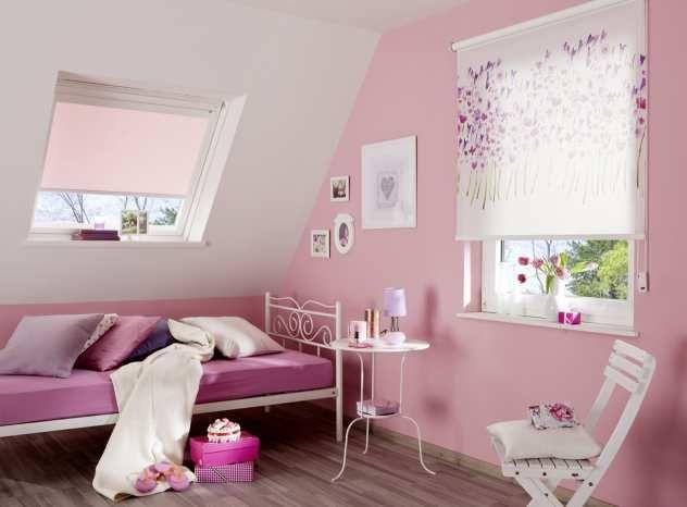 Awesome Kinderzimmer Rollo mit Blumendesign von Teba