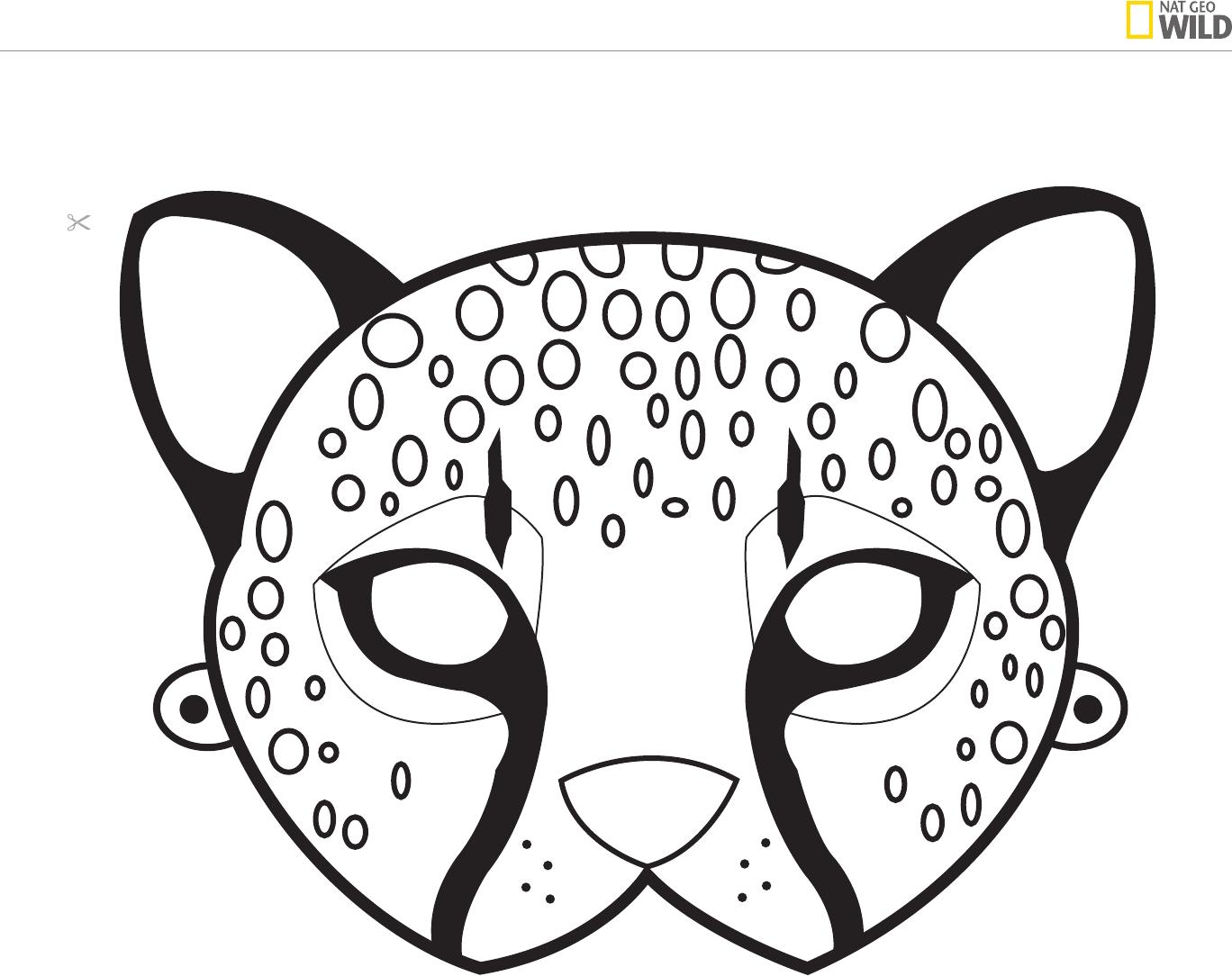 Nat Geo Wild Animal Mask Templates Printable Animal Masks Animal Masks