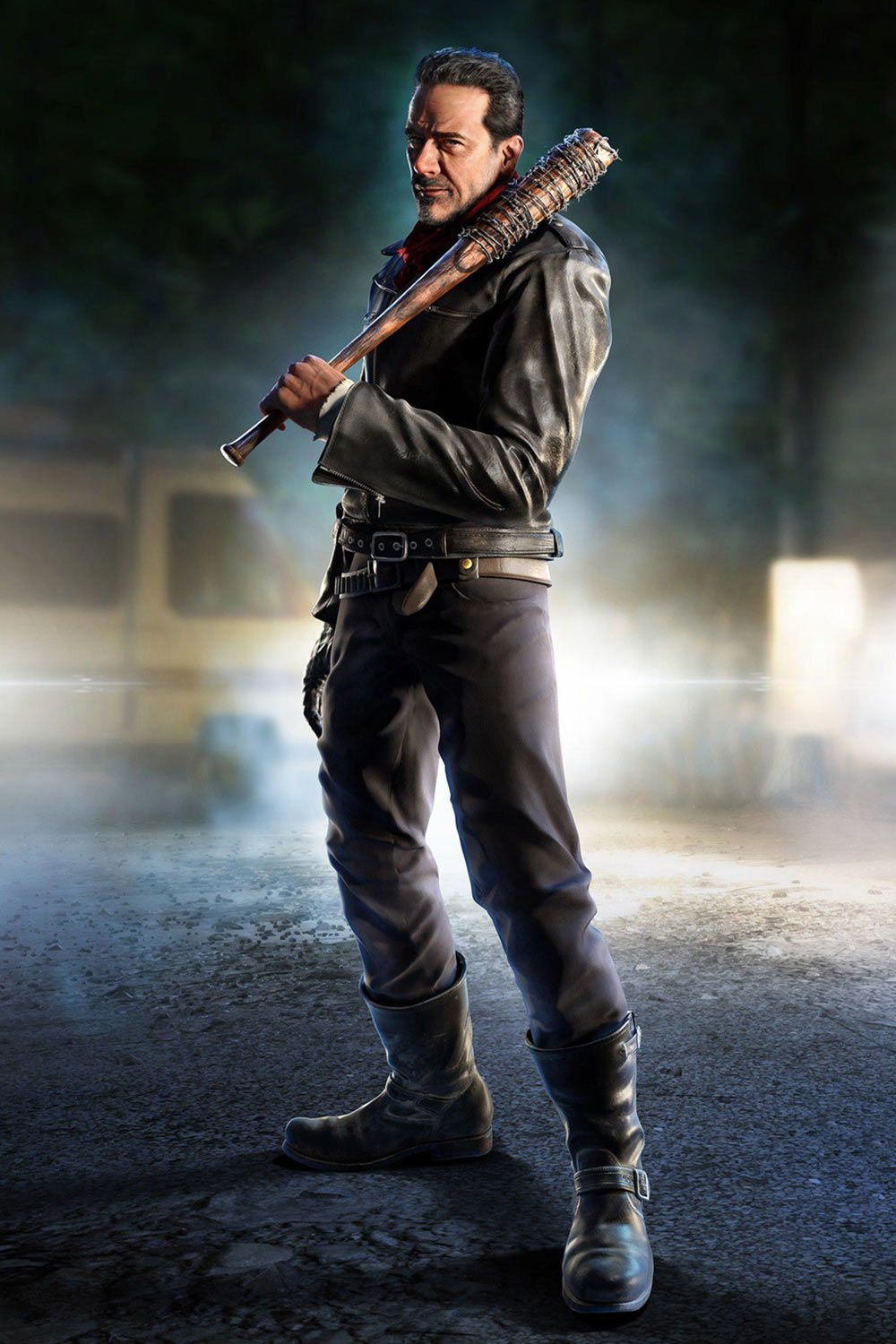 Negan Character Artwork From Tekken 7 Fated Retribution Art Illustration Artwork Gaming Videogames Gamer Negan The Walking Dead Poster Walking Dead Game
