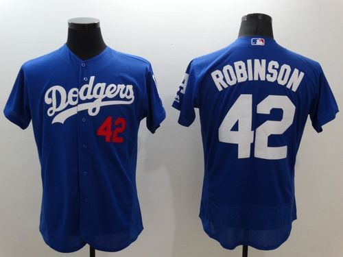 efea50899 Dodgers #42 Jackie Robinson Blue Flexbase Authentic Collection Stitched MLB  Jersey