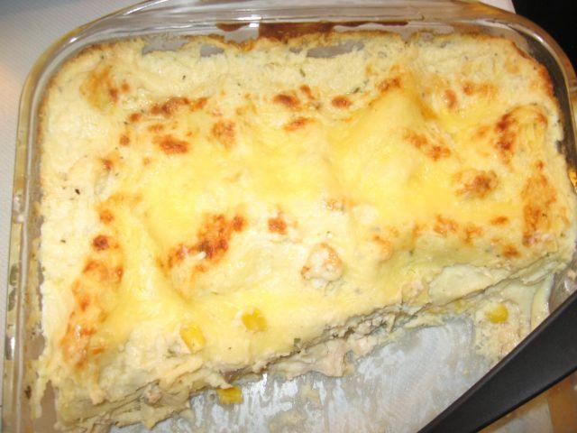 Broilervuoka lasagnen tapaan