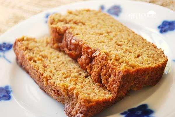 wholewheat zucchini bread  recipe  healthy bread
