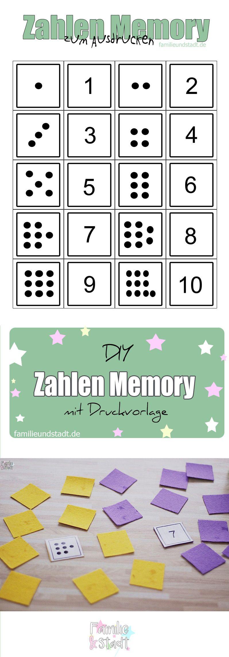 Zahlenmemory bis 10 selber basteln zum Ausdrucken | Sayılar ...