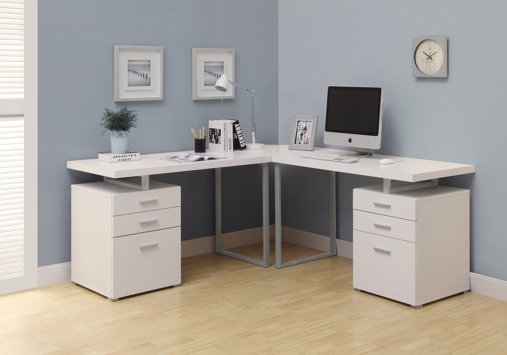 Computer Desk White L Shaped Corner Desk White Corner Desk
