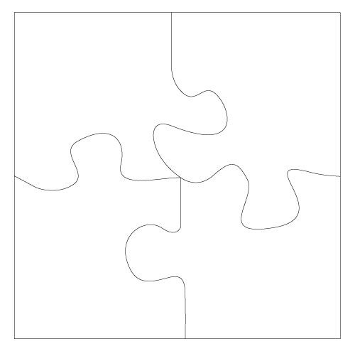 4 puzzle pieces I want to use this as a group get to know you - blank puzzle template
