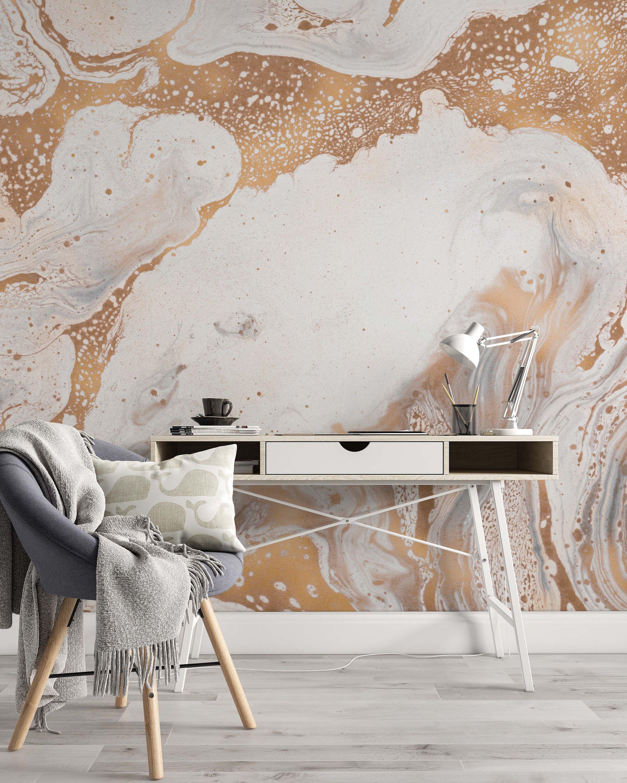 Creative Modern Design Marble Texture Wallpaper Self Adhe