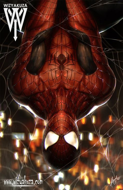 Inverted Red | Spiderman, Spider, Marvel dc comics