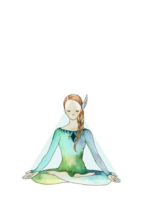 Yoga Drawing by MinnePadma Asana