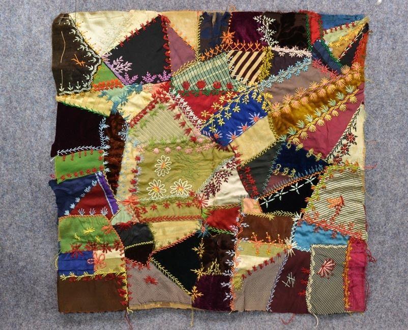 Antique crazy quilt sampler patch silk velvet patchwork 1800 best ... : crazy quilt definition - Adamdwight.com