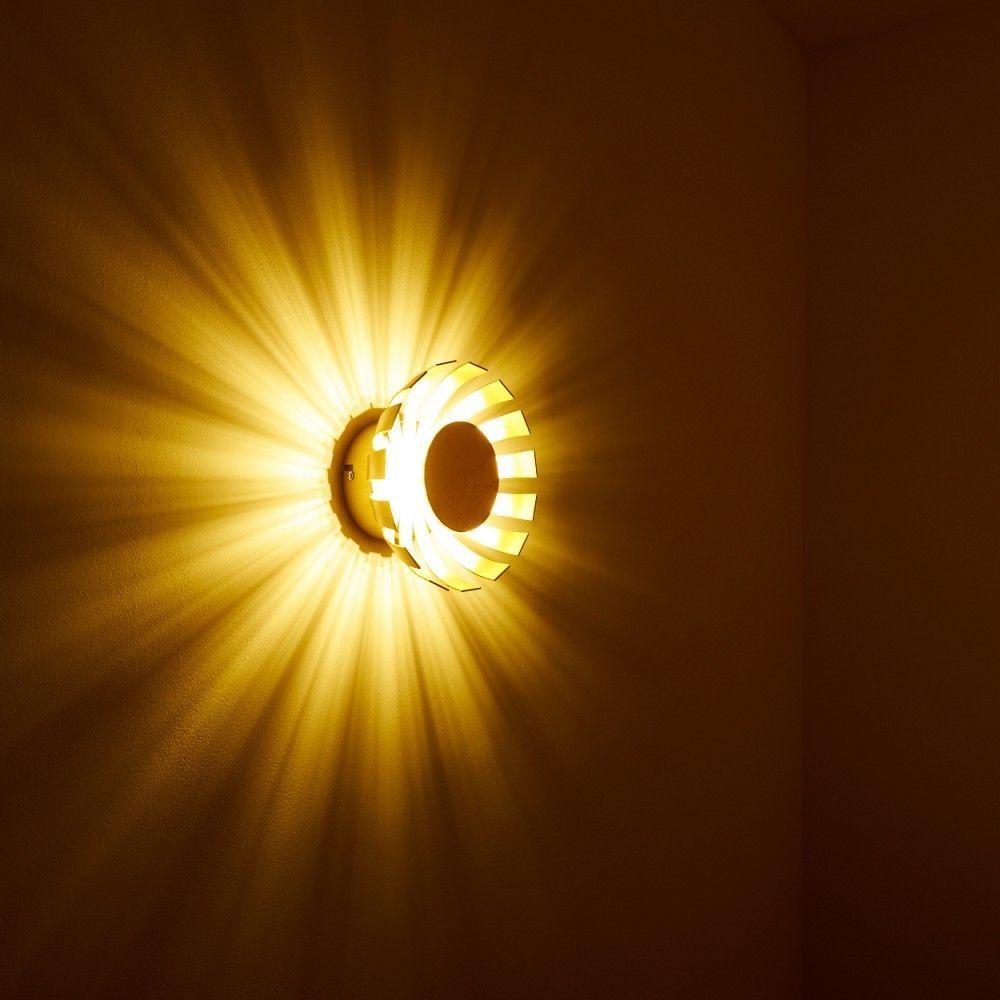 Wandleuchte LED Design Flur Lampe Wand Strahler Wohn Zimmer Leuchte  Goldfarbig