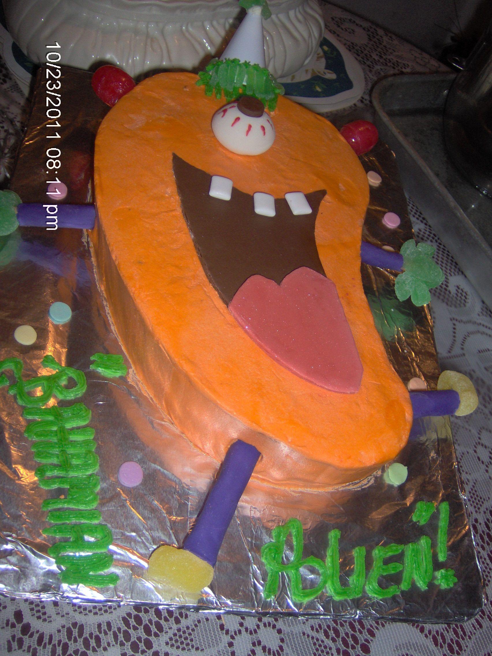 Bahamian Alien birthday cake!