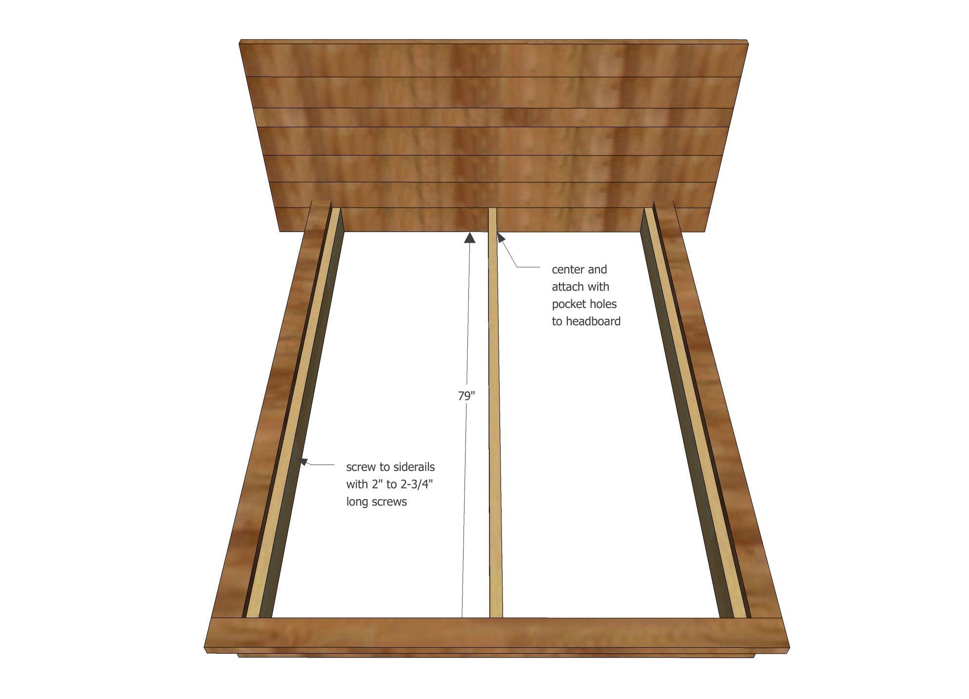 Best Rustic Modern 2X6 Platform Bed Diy Bed Frame Build A 400 x 300