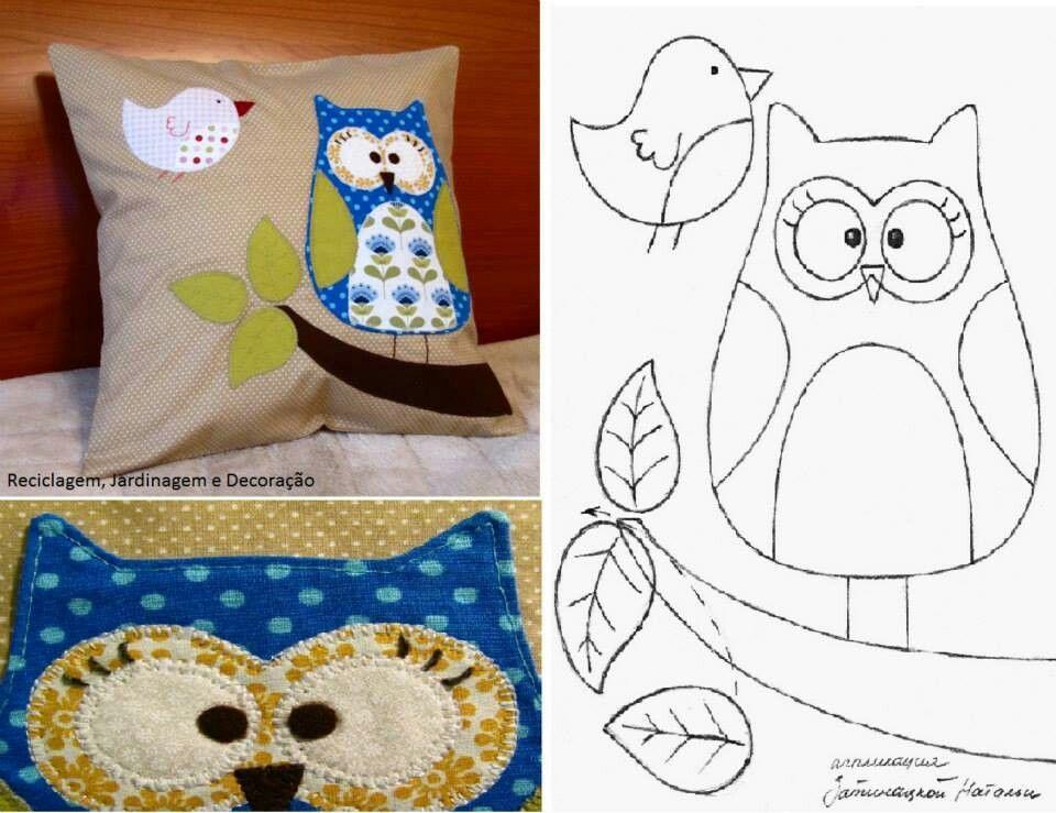 Cojin buho con patron | buhos | Pinterest | Owl, Owl patterns y Owl ...