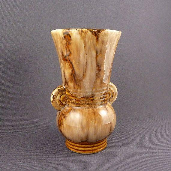 Vintage Brush Mccoy Onyx Art Deco Vase By Prairiedecarts On Etsy