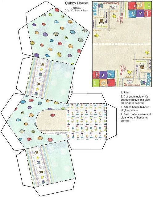 Pin by oh la la on inspirations pinterest easter printable easter house box templates for different little box houses negle
