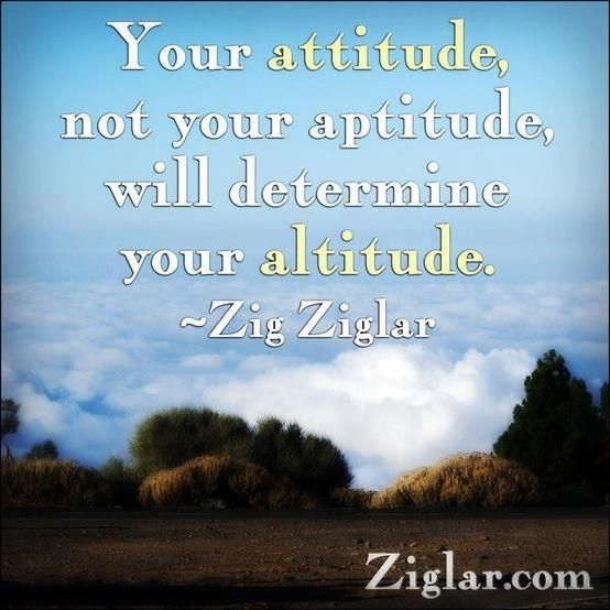 New Attitude Quotes And Sayings: *Your Attitude, Not Your Aptitude, Will Determine Your