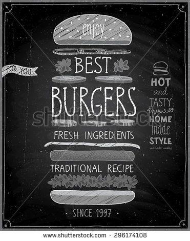 burger chalkboard ideas cerca con google