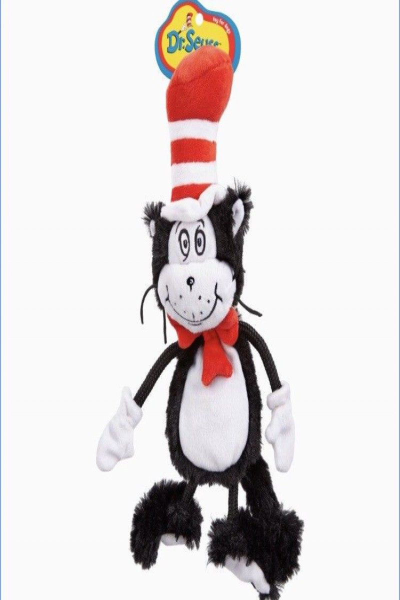 18 99 Dr Seuss Inspired Dog Toy Cat In The Hat Soft Plush Squeaky