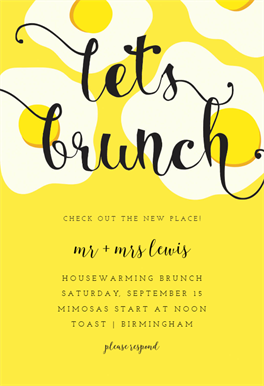 brunch lunch invitation template
