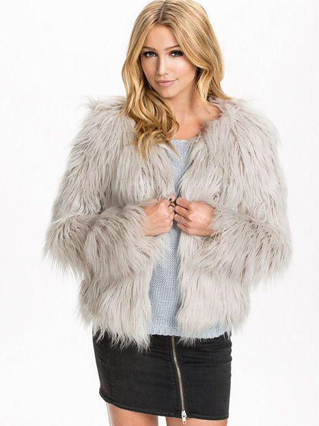 Pony Fur Jacket - Only - Ice - Jackor - Kläder - Kvinna - Nelly.com ... 8699313c02f61